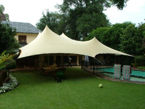 Freeform tuin tent polyned - Doek voor tuinborstel ...