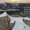 Architectonische spankap UT Twente.