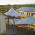 Overkapping van doek Schoolplein HAVO Bonaire