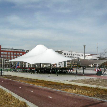 Spankap fietsenstalling overkapping Enschede