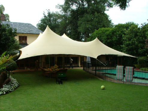 Tent Overkapping Tuin : Freeform tuin tent polyned